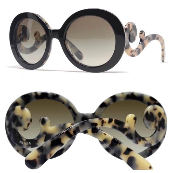 7d867fd685 ... promo code for gorgeous two tone prada baroque sunglasses f9b39 11060